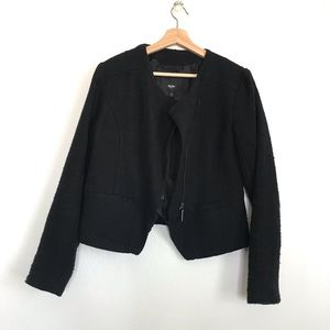 Mossimo L black tweed jacket